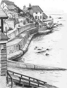 sea wall at Runswick Bay Lynne Chapman