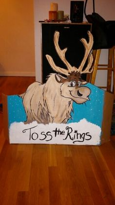 Toss the rings on sven. Frozen birthday party