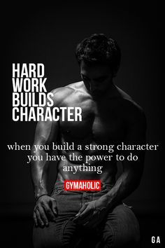 Hard work builds character Way of Working Motivation Mindwalker fitness motivation, Sport Motivation, Fitness Studio Motivation, Health Motivation, Gym Motivation Quotes, Motivational Quotes, Inspirational Quotes, Quotes Positive, Ju Jitsu, Mental Training