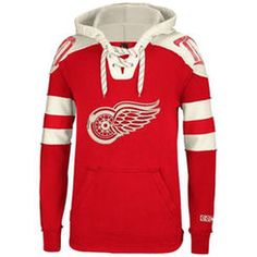 Detroit Red Wings Reebok Pullover Hoodie – Red