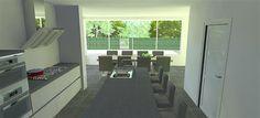 Keukenontwerp Sint Oedenrode | Huis & Interieur. Achter de huidige landelijke keuken moest een aanbouw komen met veel ruimte voor de eettafel met 8 stoelen. De landelijke keuken moest vernieuwd en gemoderniseerd worden.