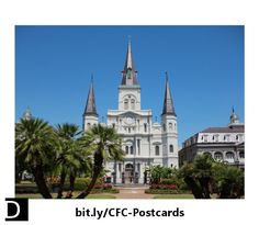 This striking postcard features the famous St. Louis Cathedral on the north side of Jackson Square in the French Quarter in New Orleans, Louisiana. https://www.zazzle.com/st_louis_cathedral_new_orleans_louisiana_postcard-239693644606404987?rf=238083504576446517&tc=20170607_pint_SaC #StudioDalio travel photography stationery mail correspondence Zazzle