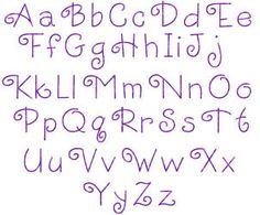 Macybugs Simple Embroidery Alphabets and Fonts Curlz, Double Layer Curly