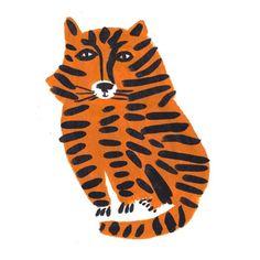 Léa Maupetit / Tiger - lovely artwork for a vintage / retro inspired kids room / boys room / baby nursery Más Art And Illustration, Pattern Illustration, Cat Illustrations, Poster Prints, Art Prints, Grafik Design, Cat Art, Illustrators, Design Art