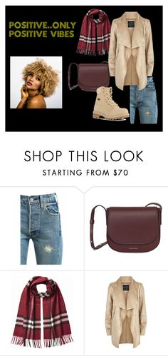 """""""Positive vibes only.."""" by meraki-design on Polyvore featuring Levi's, Burberry and Lugz"""