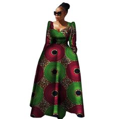 Women African Clothing Bazin Riche Robe Africaine African Dress New Arrival 2018 Women Plus Size Pure Cotton Long Dress African Dresses For Women, African Print Dresses, African Fashion Dresses, African Attire, African Prints, African Women, Chitenge Dresses, Chitenge Outfits, Modern African Clothing