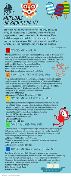 The Top 5 Museums in Brooklyn for any type of visitor, local, adult and child