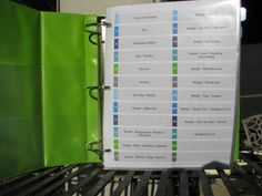 Just 1 Tip: {Create an Inventory Binder} via www.craftstorageideas.com