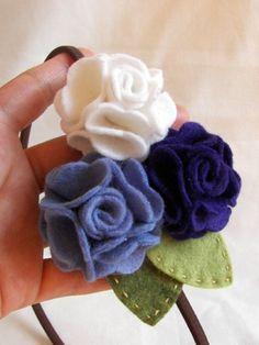 Buy one get one FREE -- Ocean geranium felt flower headband via Etsy