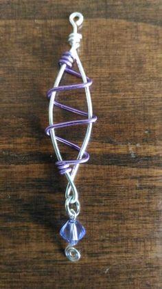 Orecchini wire #orecchini #wire #viola #violet #handmade #jewelry