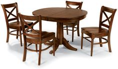 Cochrane Downtown Pedestal Table with Four Side Chairs