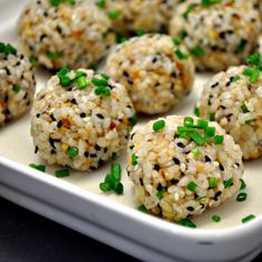 Brown Rice Sushi Balls - Pinch and Swirl