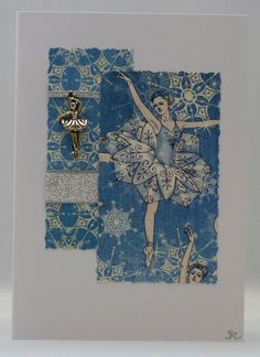 Handmade Card - Christmas Ballerina £2.50