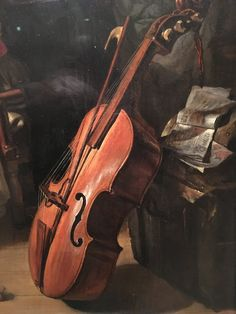 "Gabriel Metsu.   Detail of a ""viola da gamba.  1658 Dutch. At the Norton Simon Museum in Pasadena, California"