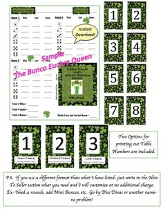 Brenna Lynn Blog  St PatrickS Bunco Score Sheet  Things I Love