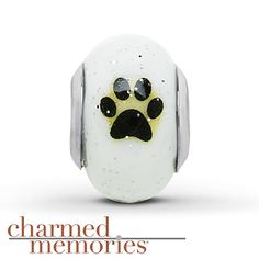 Charmed Memories Paw Print Charm Sterling Silver