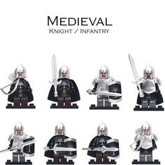 8 types Lego Custom Game Of Thrones Gondor Soldiers Knights Men Minifigures
