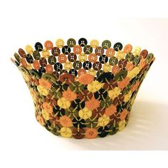 crafts made out of buttons - Google Search