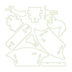 Rocking horse | Design Makerspace Pallet Crafts, Wooden Crafts, Diy And Crafts, Rocking Horse Plans, 3d Puzzel, Chalk Paint Tutorial, Origami, Decoupage Printables, Wood Toys Plans