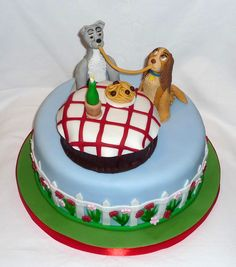 Lady and the Tramp birthday cake by Eva Rose Cakes