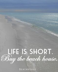 Beach Art Photograph Print Life is Short Buy the Beach House Quote Art Beach House Decor Ocean photograph Seaside 30A decor  ModernBeach