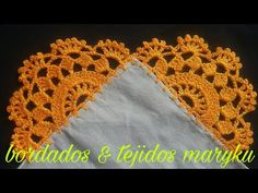 PUNTILLA DE UNA SOLA VUELTA # 62 (BORDADOS & TEJIDOS MARYKU) - YouTube Crochet Earrings Pattern, Crochet Edging Patterns, Crochet Lace Edging, Crochet Doilies, Crochet Necklace, Crochet Hats, Basic Embroidery Stitches, Cute Funny Quotes, Silhouette Design