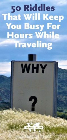 I love riddles, although I'm horrible at figuring them out. Here are my favorite riddles to keep your family occupied on your next road trip or to entertain your traveling friends with on your next 16 hour bus ride. Brought to you by TravelisLife.org. #ri Road Trip With Kids, Family Road Trips, Travel With Kids, Family Travel, Family Vacations, Bus Travel, Roadtrip, Travel Tips, Travel Hacks