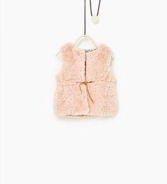 Faux fur waistcoat-COATS-Baby girl-Baby | 3 months - 3 years-KIDS | ZARA United States