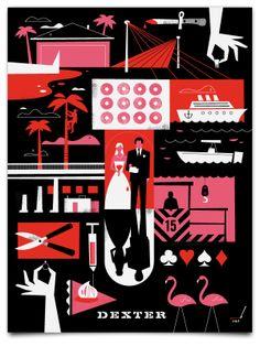 Dexter Posters by Ty Mattson, via Behance