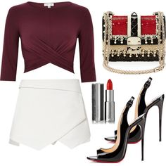 tuesday by stanislavajur on Polyvore featuring River Island, Christian Louboutin, Valentino and Givenchy