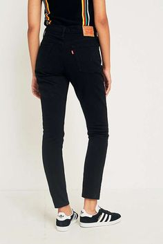 "Slide View: 4: Levi's – Skinny Jeans ""501"" in Black Slate"