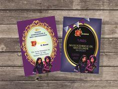 Convite Descendentes - Arte Digital | Nosso Ateliê - Personalizados para festa | Elo7