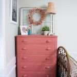 draper home tour, dresser redo annie sloan scandinavian pink Annie Sloan, House Tours, Painted Furniture, Scandinavian, Dresser, Diy Projects, Decorating, Bedroom, Pink