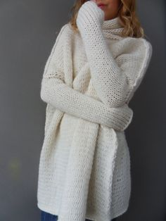Oversized Chunky knit sweater. Slouchy / Bulky от RoseUniqueStyle