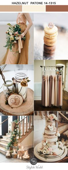 brown and cream neutral elegant wedding color inspiration for 2017