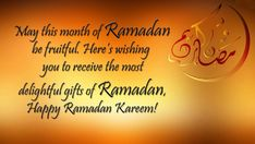 The Muslims are busy in offering prayers and fasting rituals. While Muslims are busy in fasting and giving charity, how can they forget to send the Ramadan Kareem wishes in English to their loved ones? Happy Ramadan Mubarak, Ramadan Wishes, Ramadan Greetings, Greetings Images, Wishes Images, Wish Online, Prayer And Fasting, Wish Quotes, Wishes Messages