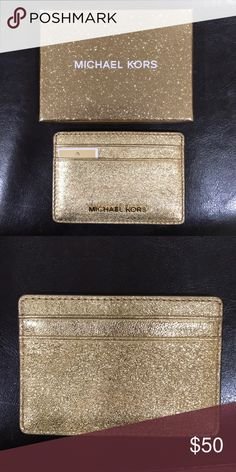 cf75bbffe31f Michael Kors Gold Cardholder New comes with box Michael Kors Accessories  Key & Card Holders Michael
