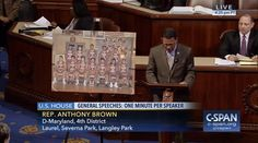Who: Representative Anthony Brown (D-Maryland)  When: April 2017  What: Fairmont Heights Hornets  Watch on C-SPAN  Read Congressional Record