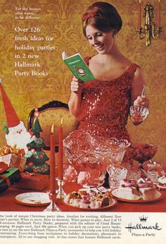 advertisement for hallmark party books from 1965