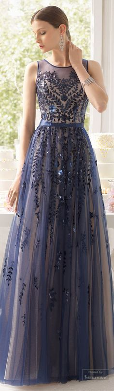 Navy blue bridesmaids dresses | navy blue wedding |Aire Barcelona.2015. #Dresses