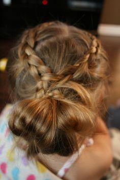 Gymnastics Hair: Braided Messy Bun
