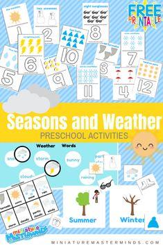 Seasons and Weather Preschool Activities