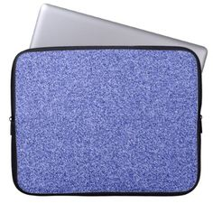 Blue faux glitter computer sleeve - cyo diy customize unique design gift idea perfect