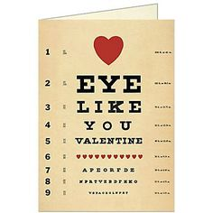 Cavallini Eye Like You Valentine Card