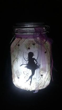 Large FAIRY in a jar light, FAIRY LANTERN, pink fairy, gift for her, Christmas gift, gift for girls, Birthday gift, gift for Christmas by TheLittleLilacFaerie on Etsy