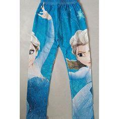 Dancing Frozen Princess Blue Legging For Children