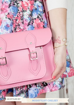 "Upwardly Mobile Satchel in Pink - 11"", #ModCloth"