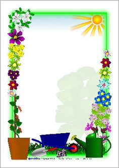 Plant Growing Page Borders Frame Border Design, Boarder Designs, Page Borders Design, Bulletin Board Design, Printable Border, School Border, Border Templates, Boarders And Frames, School Frame