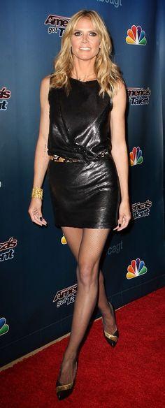 Heidi Klum no America's Got Talent em NY (04/04/14)