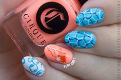 Ponyo mani featuring Cirque Colors VITAMIN D and MIAMI-DADE